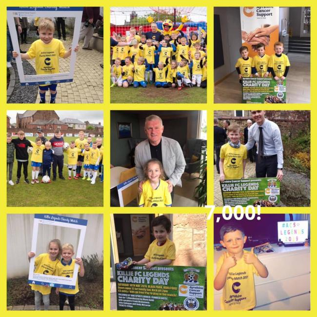 Ayrshire Cancer Support charity thanks mascots for fundraising success