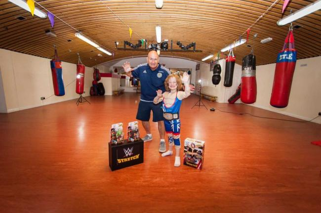 Tristan Marshall, toy tester, visited Garnock Valley Boxing Club.