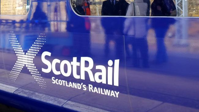 Rail disruptions to Ardrossan services due to broken down train.