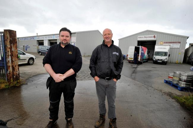 Ian Tolland from Bute Services and Tony Morrow from Arran Deliveries.
