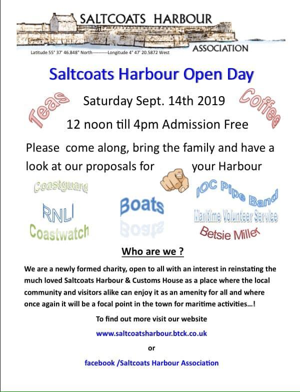 Families invited to a free open day at Saltcoats Harbour