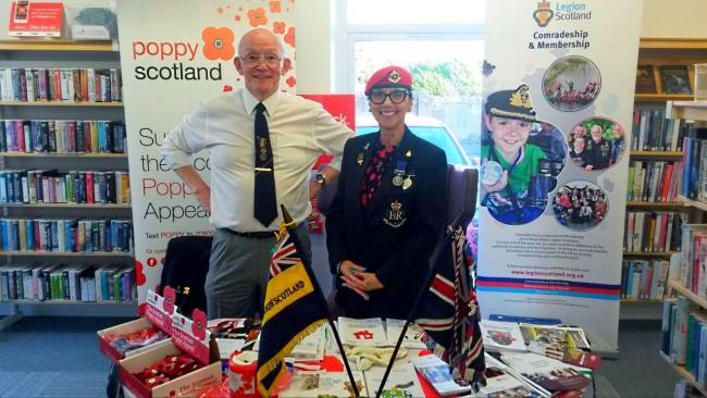 Saltcoats, Ardrossan and Stevenston Royal British Legion branch at Saltcoats Library Open Evening.