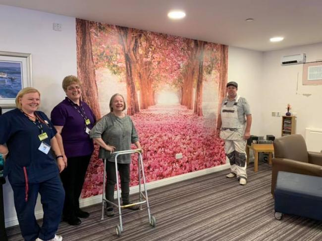 David Skilling donated the mural for the care home to the delight of staff and residents