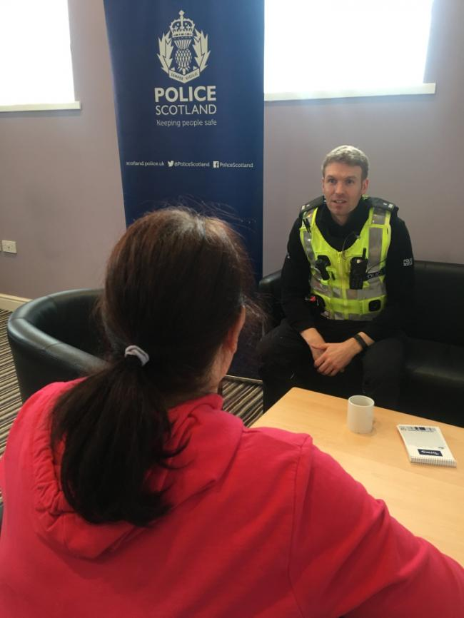 Locality police surgery to be held in Ardrossan.