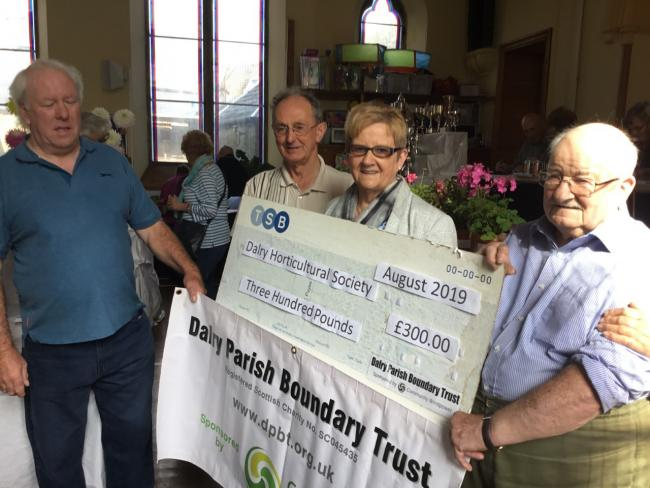 Dalry Horticulture Society recieved funding from the Parish Boundary Trust.