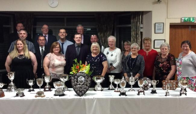 Ardeer Rec Bowling Club prize winners at their recent presentation dance evening.