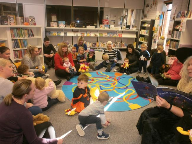 Trick or treat: Parents and toddlers enjoyed a Halloween Bookbug at Ardrossan Library.