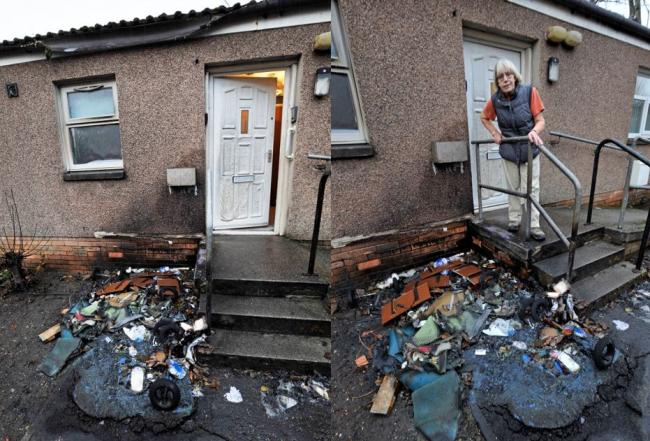 Damage left unfixed three weeks after pensioner's bins set ablaze