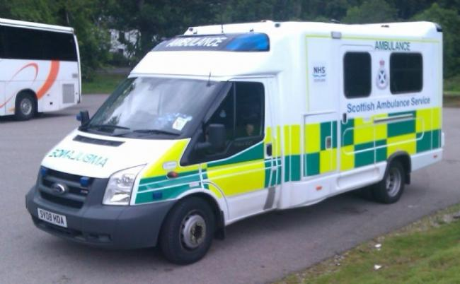 A Scottish ambulance