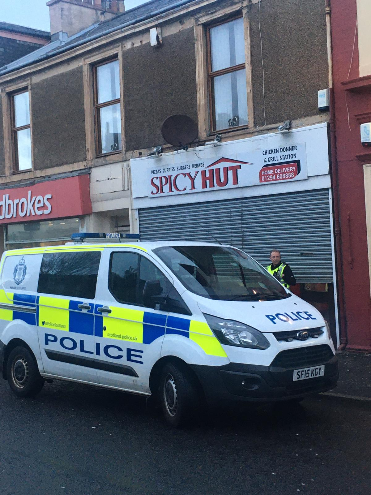 On Going Incident As Police Attend Ardrossan Take Away