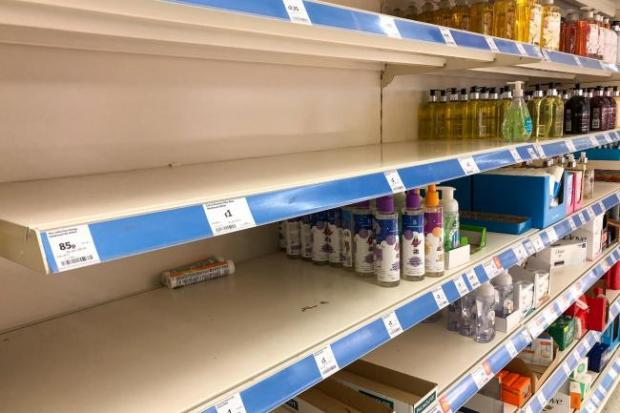 Ardrossan and Saltcoats Herald: Empty supermarket shelves were a common sight at the start of lockdown