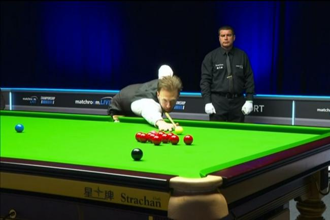 Judd Trump progressed from the first day's play at snooker's Championship League.