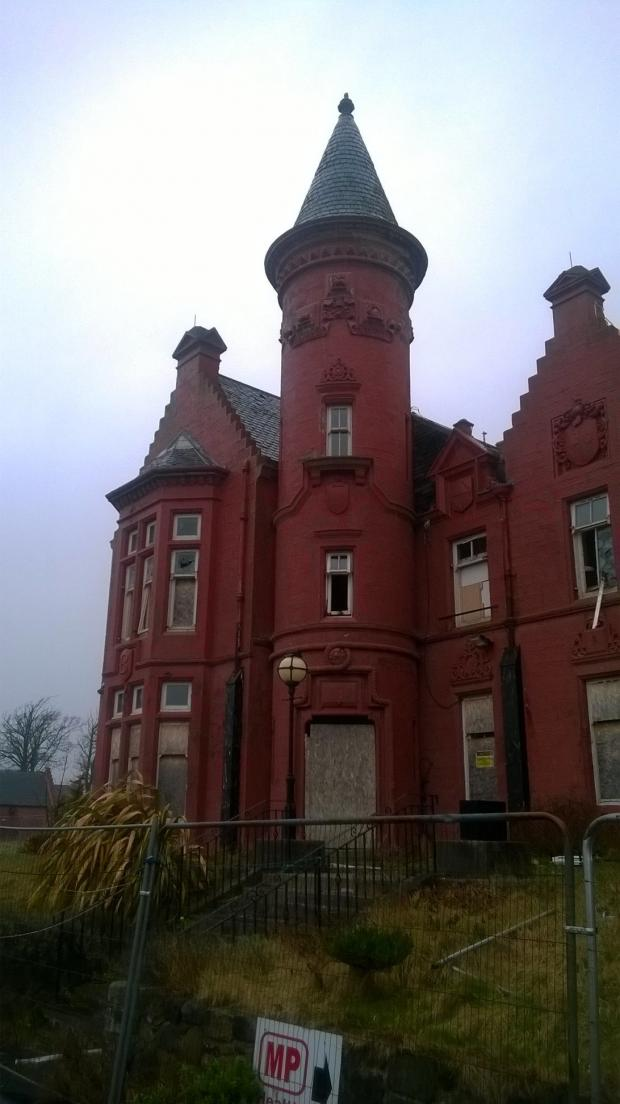 Ardrossan and Saltcoats Herald: The distinctive tower of Seafield House.