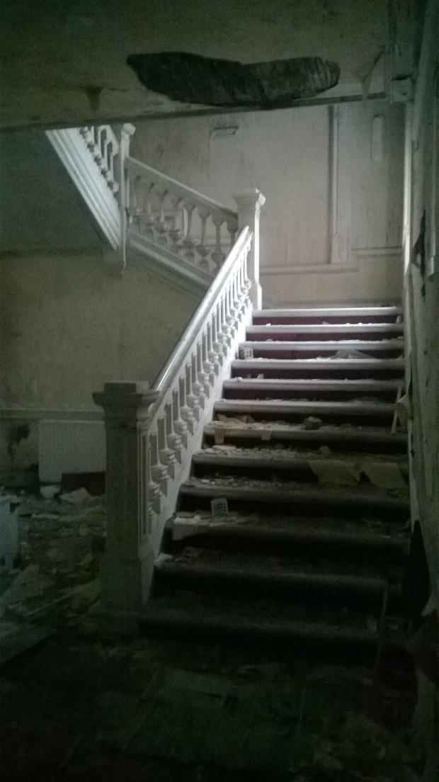 Ardrossan and Saltcoats Herald: What was once a grand staircase now looks like a horror movie set.