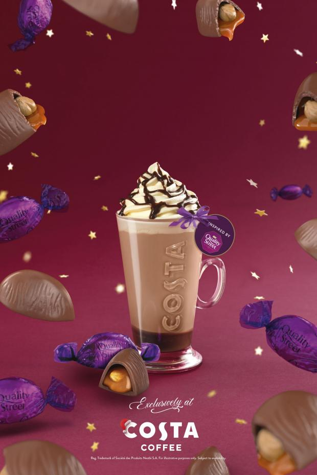 Ardrossan and Saltcoats Herald: The Quality Street Purple One Latte. Credit: Costa