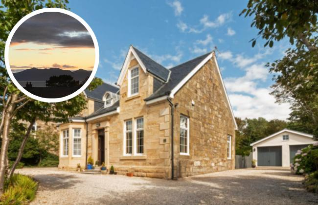 Ayrshire mansion with stunning sea views and extensive garden grounds on sale