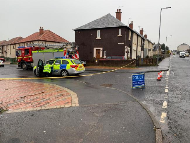 Emergency services dealing with ongoing incident in Kilwinning