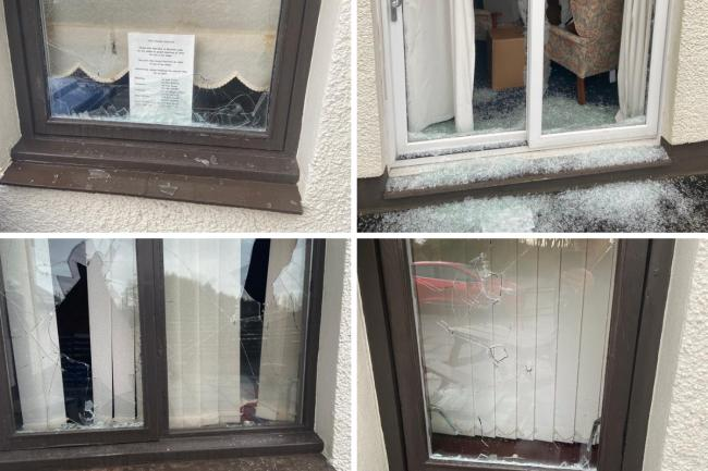 Vandals smash windows of North Ayrshire Cancer Care centre