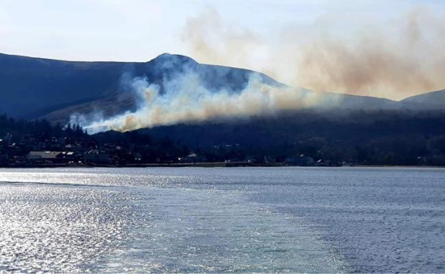 Fire crew on route as hill fire burns on Isle of Arran