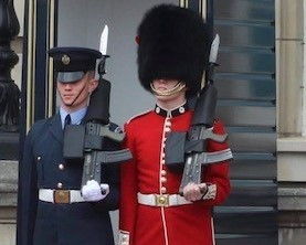 Kilwinning gran's pride as twins are first to perform Buckingham Palace Changing of the Guard
