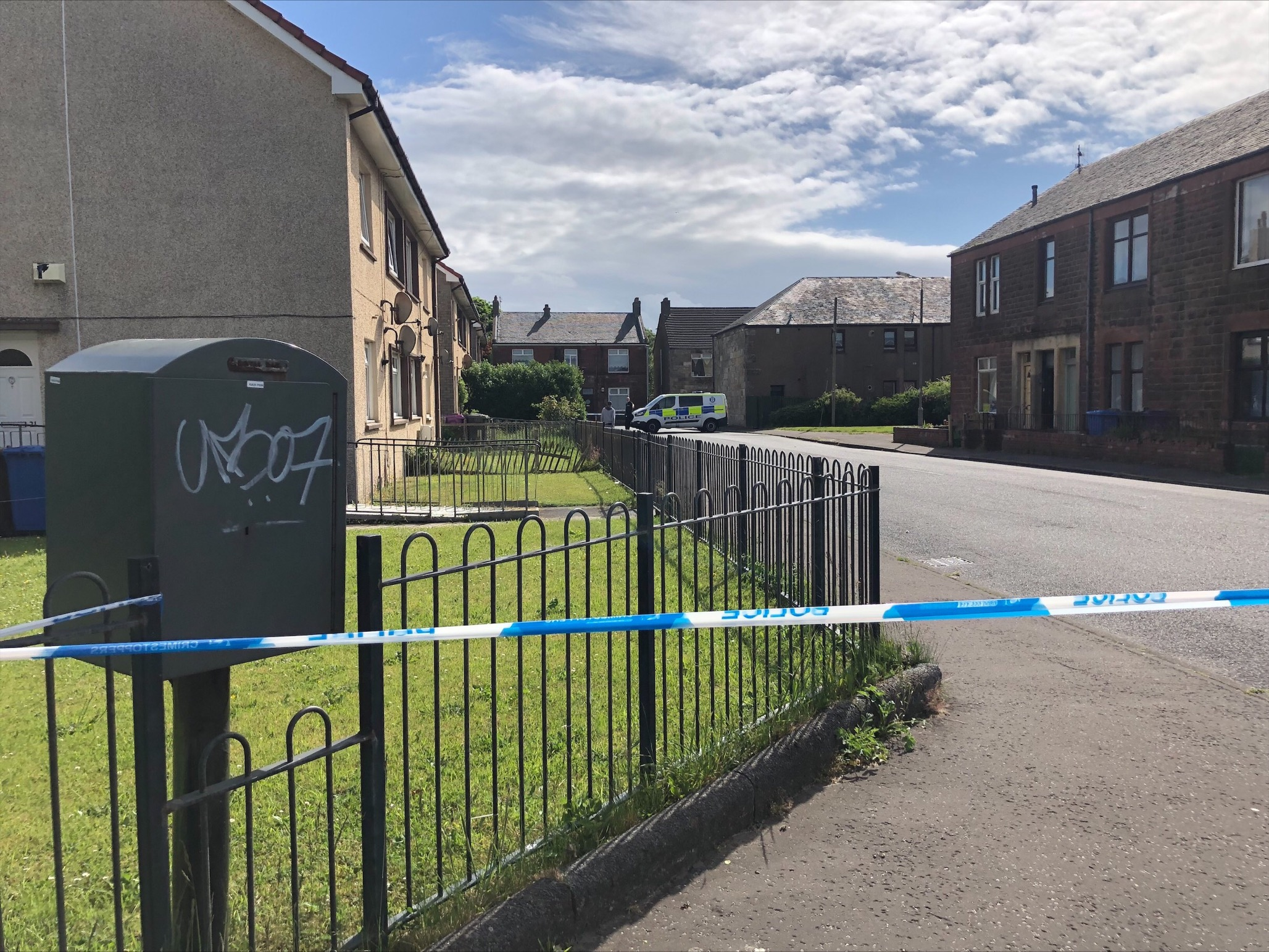 Arthur Street:  Man in hospital after 'disturbance' in Stevenston