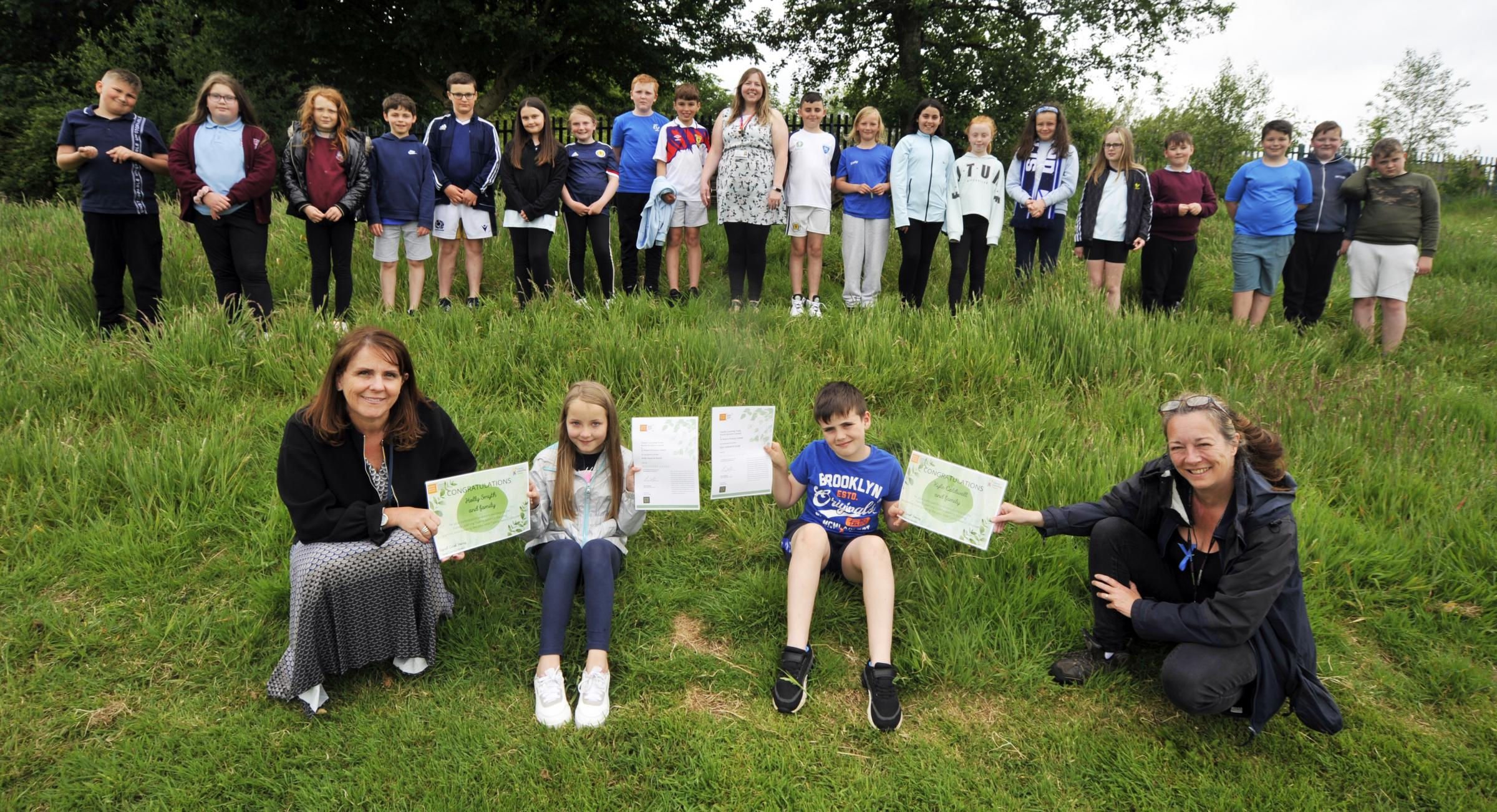 Ardrossan: St Peter's pupils given certificates for their environmental challenge