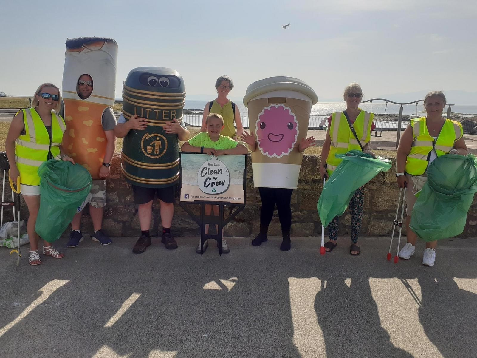 Three towns clean up crew don fancy dress to send litter message