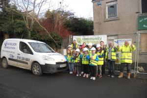 Dalry Scouts get ball rolling as they prepare for new building