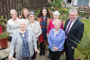 MSP visits new sheltered housing complex works