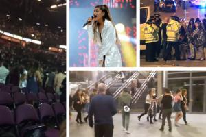 'Oh my God': Disturbing video shows horror inside Manchester Arena as blast rocks gig