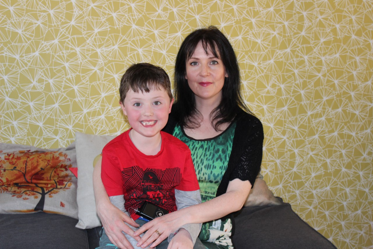 West Kilbride mum abseils in support of son