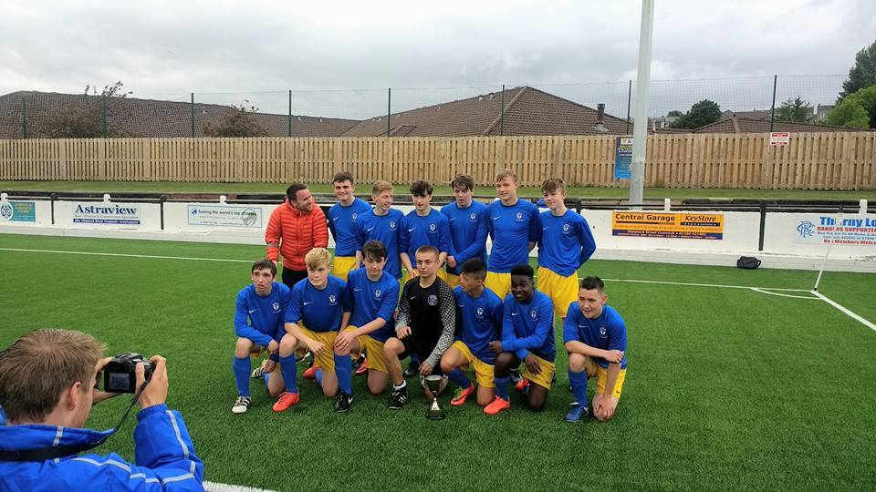 TROPHY TRIUMPH: Kilwinning Academy won the schools final at Townhead Park.