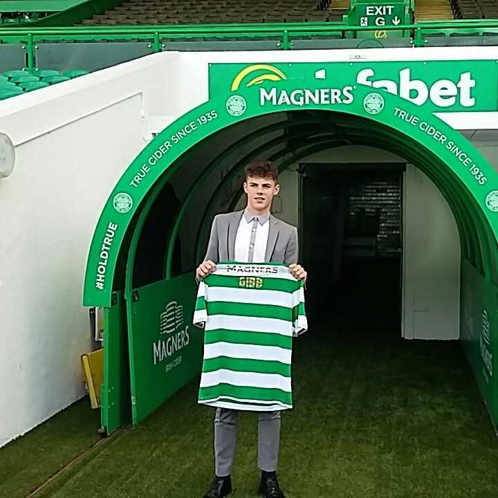 CELTIC DREAM: Aiden Gibb signed for Celtic last week.
