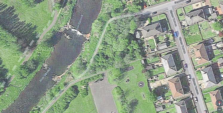 The River Garnock in Kilwinning. Picture courtesy Google Maps.
