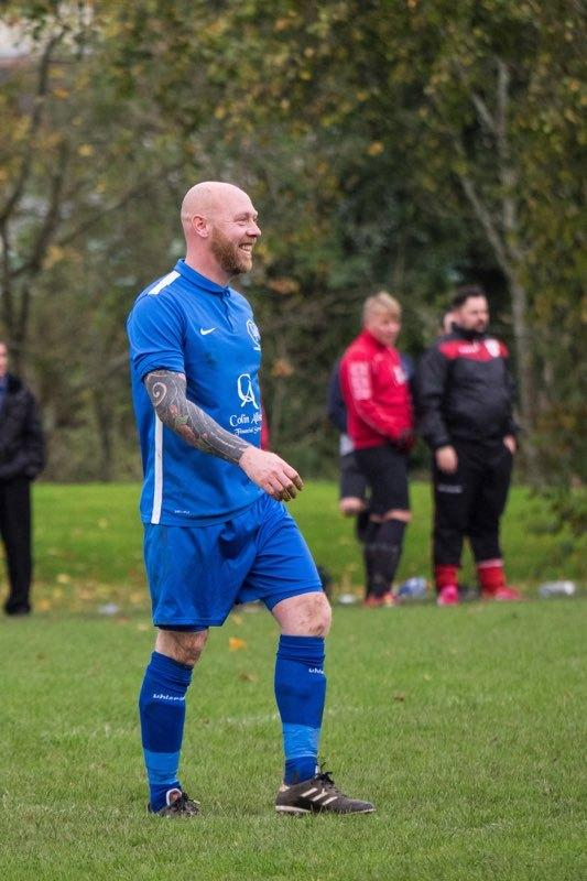 MAJOR MILESTONE: Graeme Muir made his 200th competitive appearance for Dirrans Athletic on Saturday. Picture: Peter Stevenson.