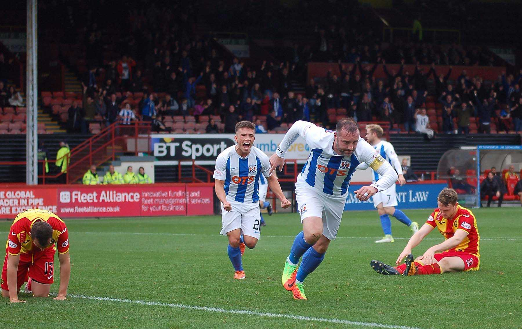 ON TARGET: Kris Boyd, pictured in action for Killie at Firhill, netted from the penalty spot.