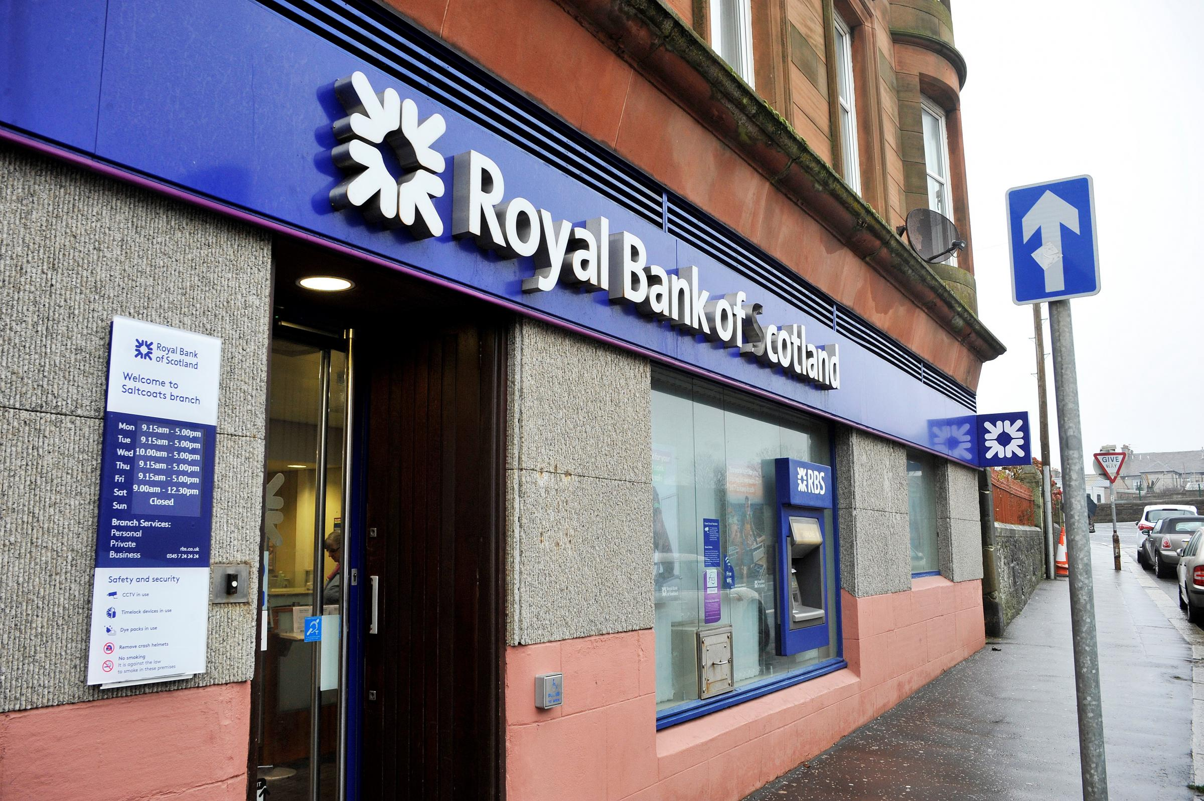 The RBS Branch in Saltcoats which is due to close in June 2018