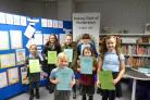 Ardrosssan and Saltcoats rotary art prize winners at Saltcoats library..
