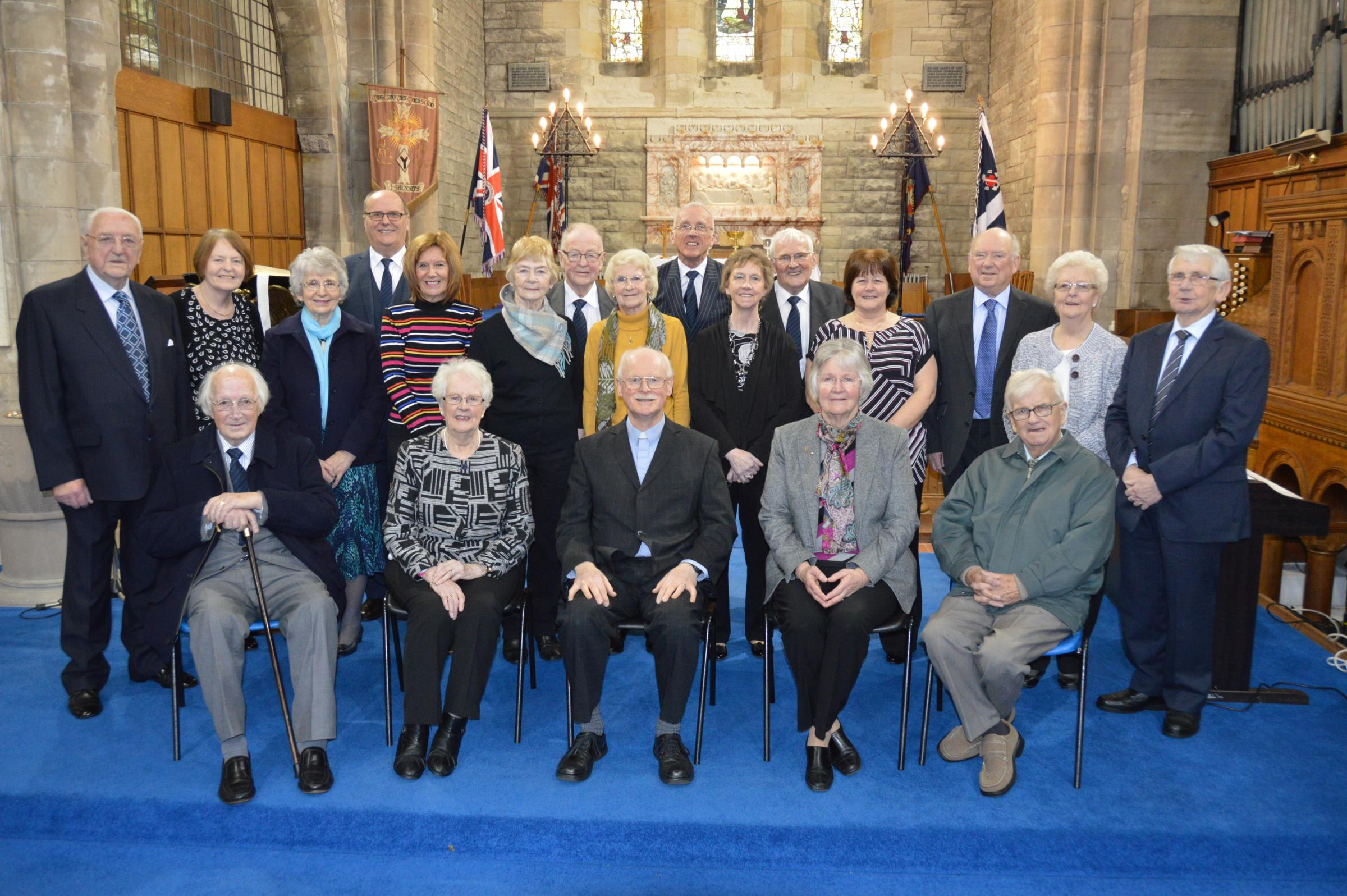 Saltcoats church honours long serving parishioners