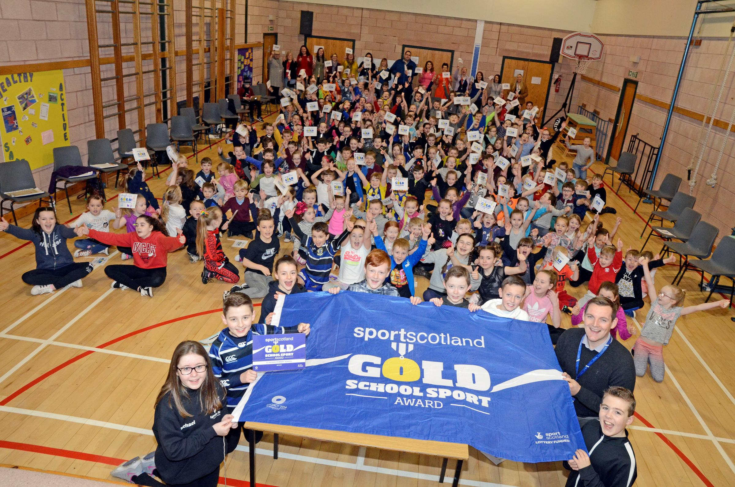Second Gold sports award for St Peter's Primary School