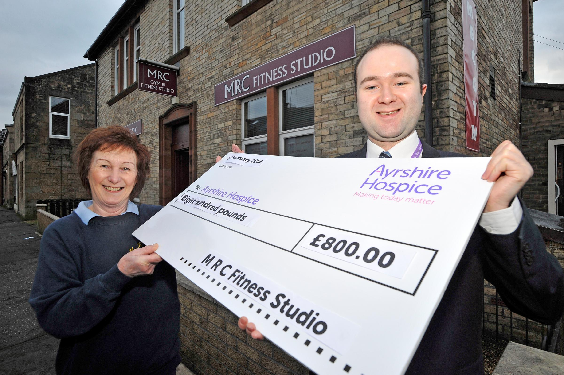 Fitness Club's boost for the Ayrshire Hospice