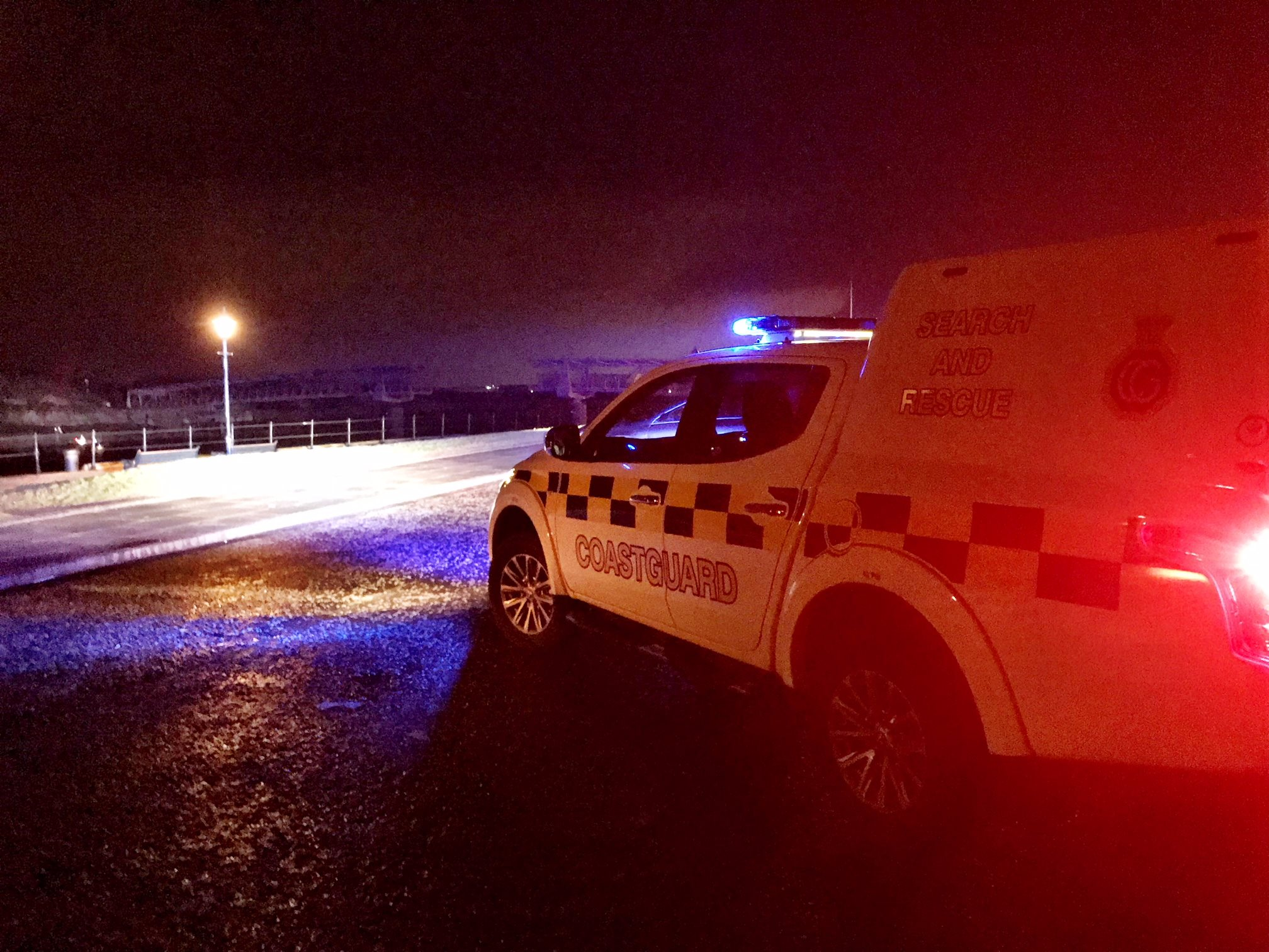 Ardrossan Coastguard help rescue two off Irvine Harbour