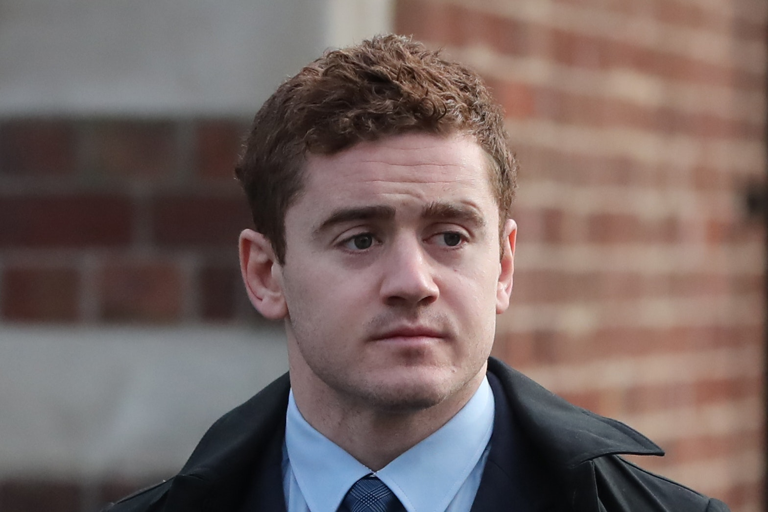 Ireland and Ulster rugby player Paddy Jackson arrives at Belfast Crown Court (Niall Carson/PA)