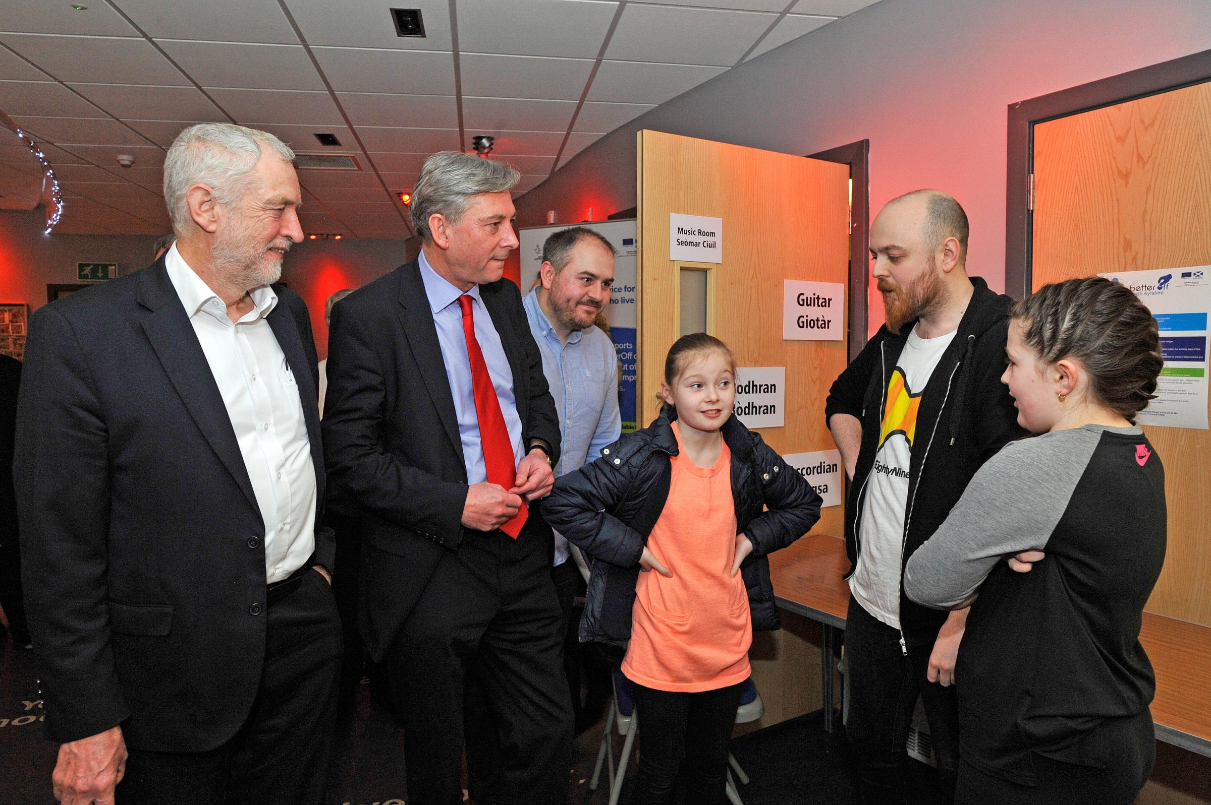 Jeremy Corbyn and Richard Leonard visit North Ayrshire