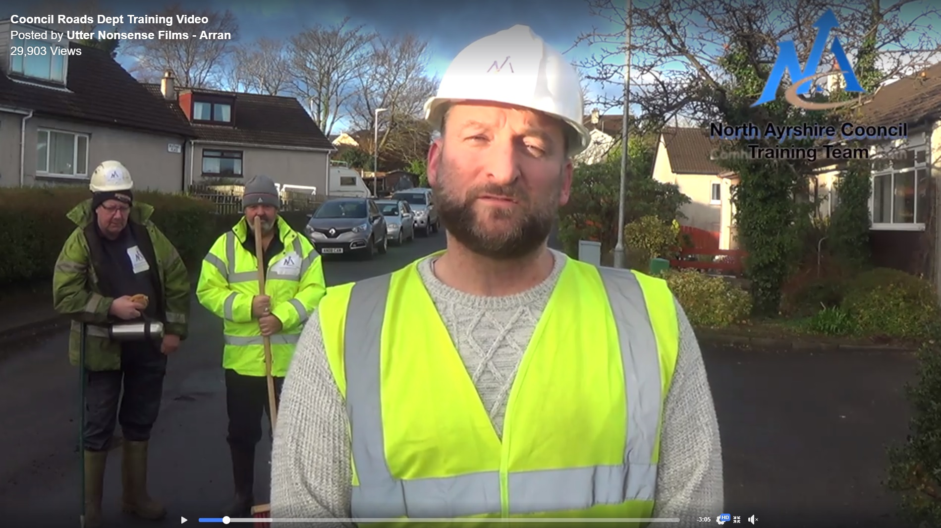 New spoof video takes a dig at North Ayrshire's roads