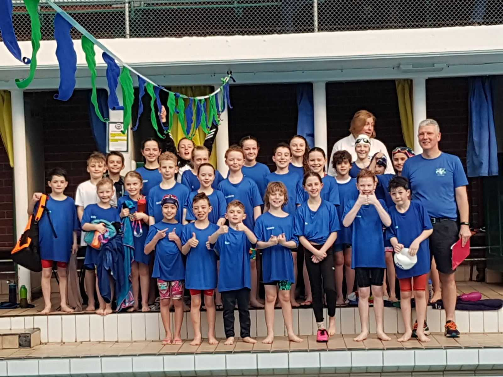 WINNING TEAM: NAASC Mini League team celebrate victory in round one at Renfrew