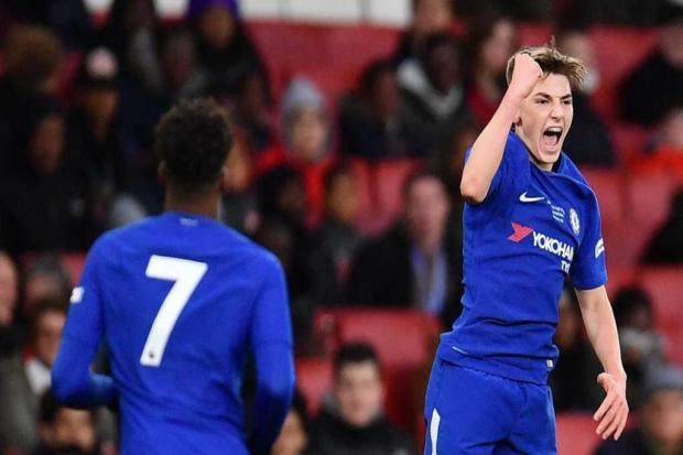 Billy Gilmour made his top team debut for Chelsea