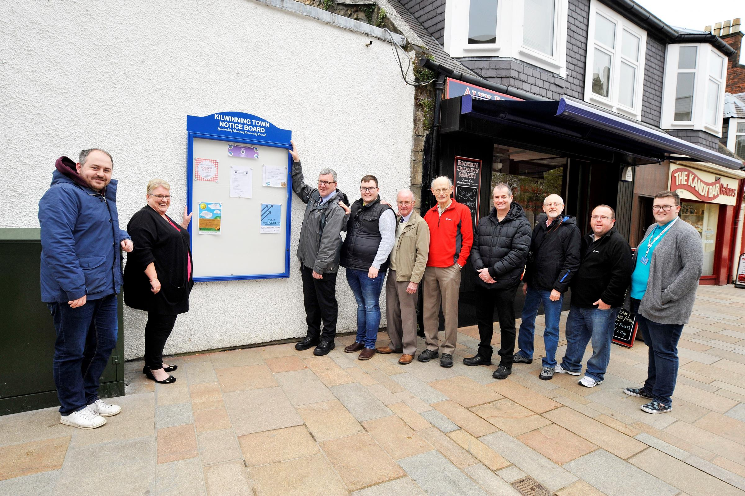 Kilwinning community councillors unveiled the board on Saturday