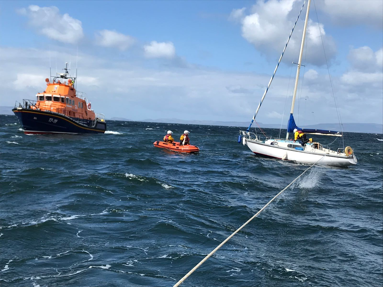 Arran RNLI help out with rescue