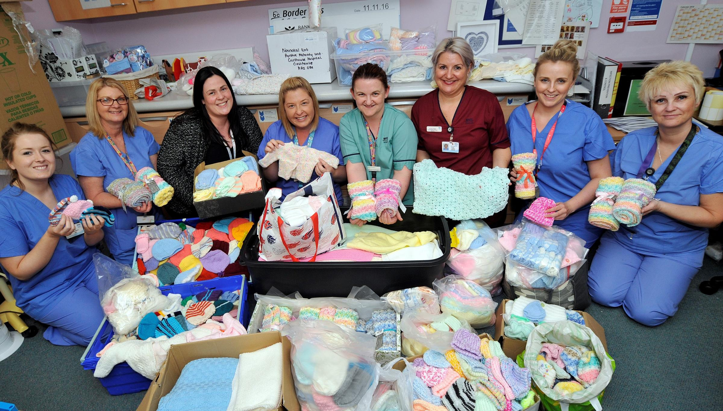 Ayrshire Maternity Unit overwhelmed by knitted gifts..